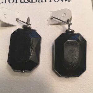 Croft & Barrow Multi Faceted Black Earrings
